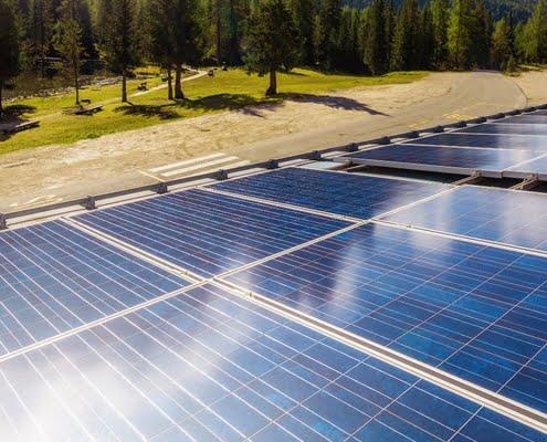 Solarplatten in der Natur